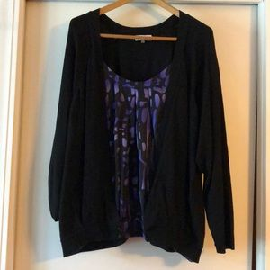 Liz Claiborne Faux Shell and cardigan